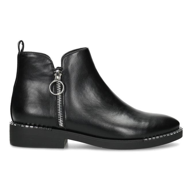 Dámská černá kotníčková obuv se zipem bata, černá, 591-6601 - 19