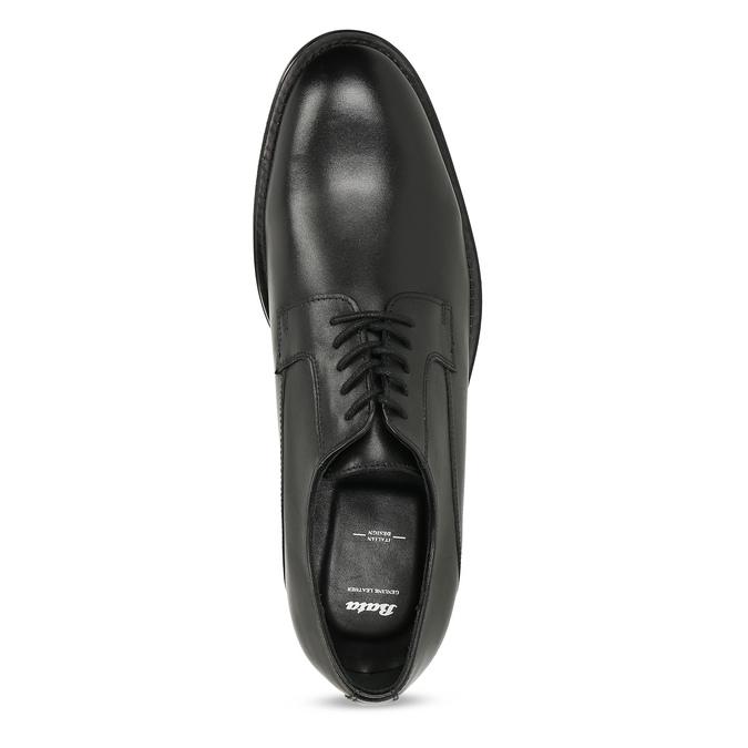Černé pánské kožené Derby polobotky bata, černá, 824-6920 - 17