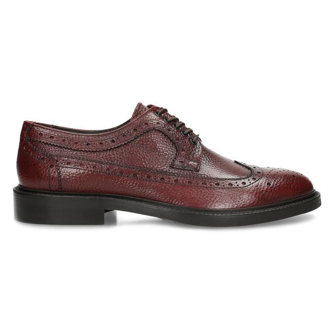 Červené pánské kožené Brogue polobotky bata, červená, 826-5629 - 19