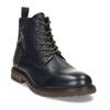 Modrá pánská kožená kotníčková obuv bata, modrá, 826-9631 - 13