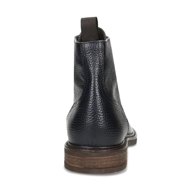 Modrá pánská kožená kotníčková obuv bata, modrá, 826-9631 - 15