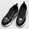 Černé dámské tenisky s masivní podešví bata, černá, 541-6610 - 16