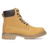 Dámské kožené Worker Boots s prošíváním weinbrenner, žlutá, 596-8603 - 19