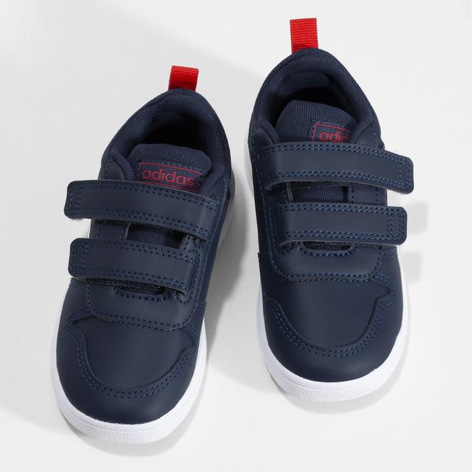 Modré dětské tenisky na suché zipy adidas, modrá, 101-9291 - 16