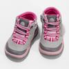 Šedá dětská kotníčková obuv s růžovými detaily bubblegummers, šedá, 121-2720 - 16