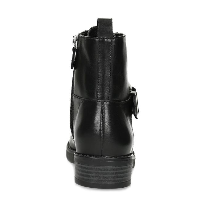 Černá dámská kožená kotníčková obuv flexible, černá, 594-6615 - 15