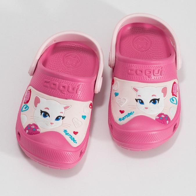 Růžové dětské sandály coqui, růžová, 272-5610 - 16