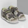 Šedé dětské sandály se zelenými detaily bubblegummers, šedá, 161-3614 - 26