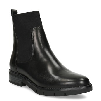 Kožená černá dámská Chelsea obuv flexible, černá, 594-6608 - 13