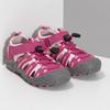 Růžové dívčí sandály outdoorového stylu mini-b, růžová, 261-5706 - 26