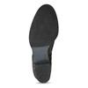 Dámské černé kožené kozačky s řasením bata, černá, 696-6601 - 18