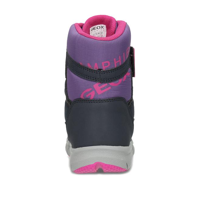 Dětská zimní obuv s růžovými detaily geox, modrá, 399-9314 - 15