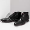 Kožená pánská černá kotníčková obuv conhpol, černá, 894-6600 - 16