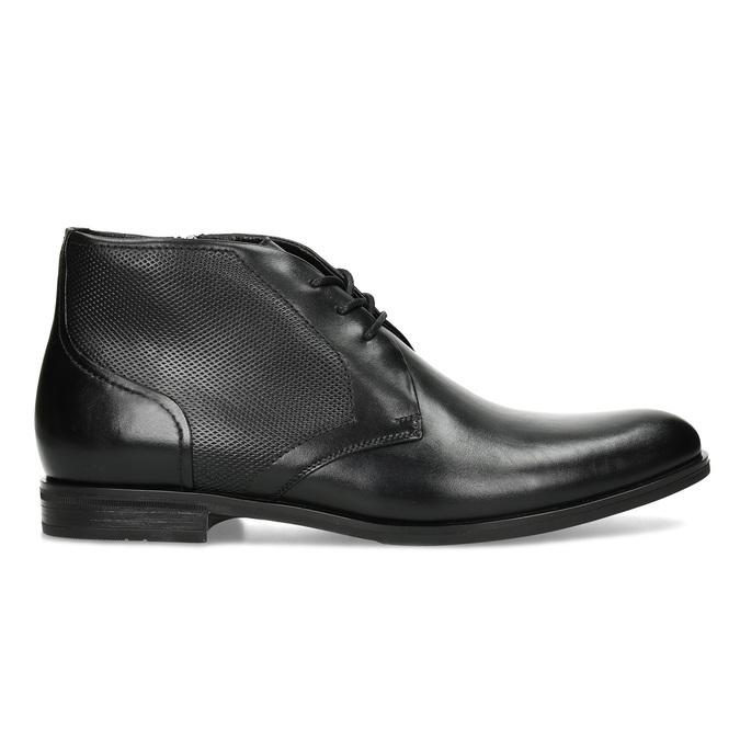 Pánská kožená kotníčková obuv se strukturou conhpol, černá, 894-6605 - 19