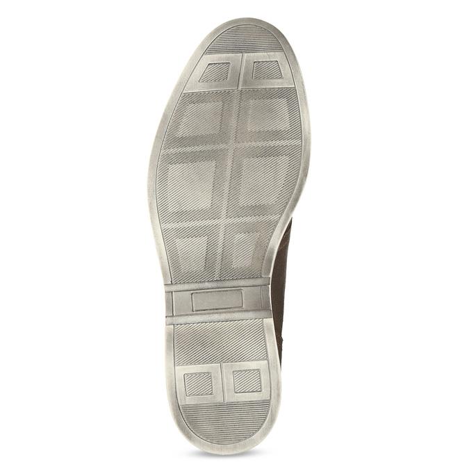 Hnědá pánská kožená kotníčková obuv bata, hnědá, 826-3606 - 18