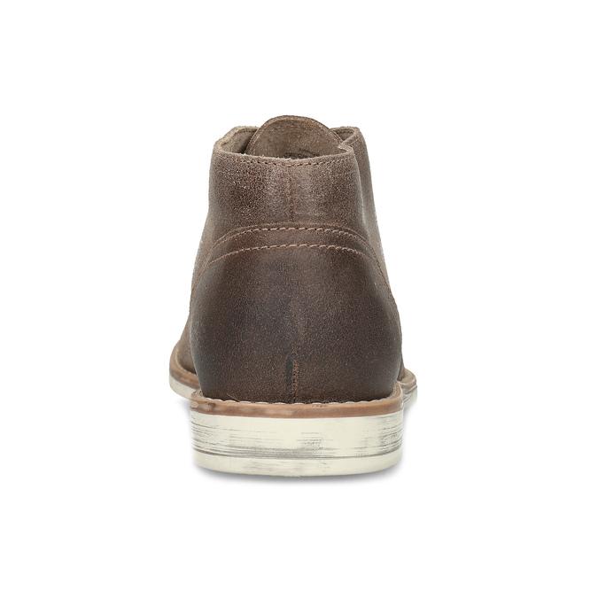 Hnědá pánská kožená kotníčková obuv bata, hnědá, 826-3606 - 15