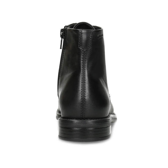 Černá kožená dámská kotníčková obuv vagabond, černá, 524-6106 - 15