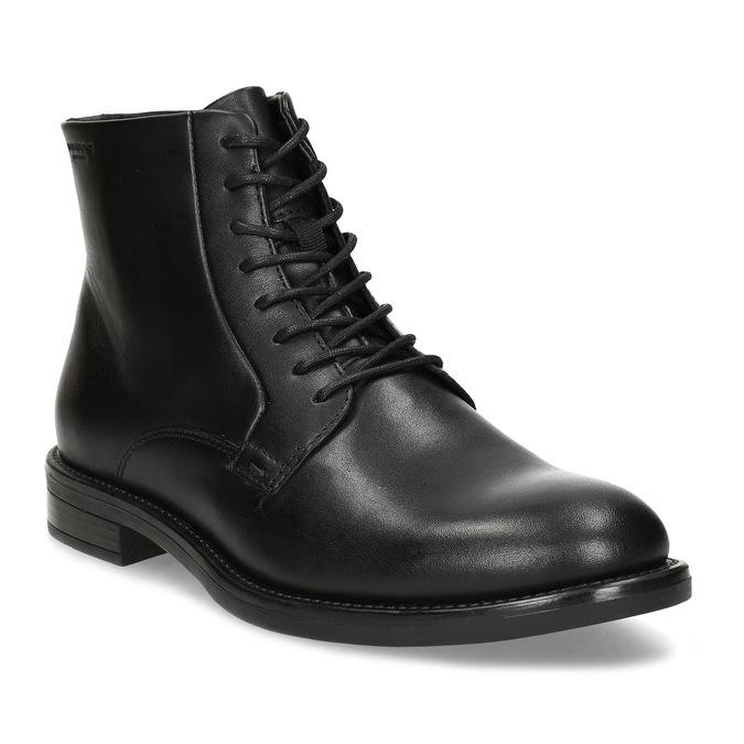Černá kožená dámská kotníčková obuv vagabond, černá, 524-6106 - 13
