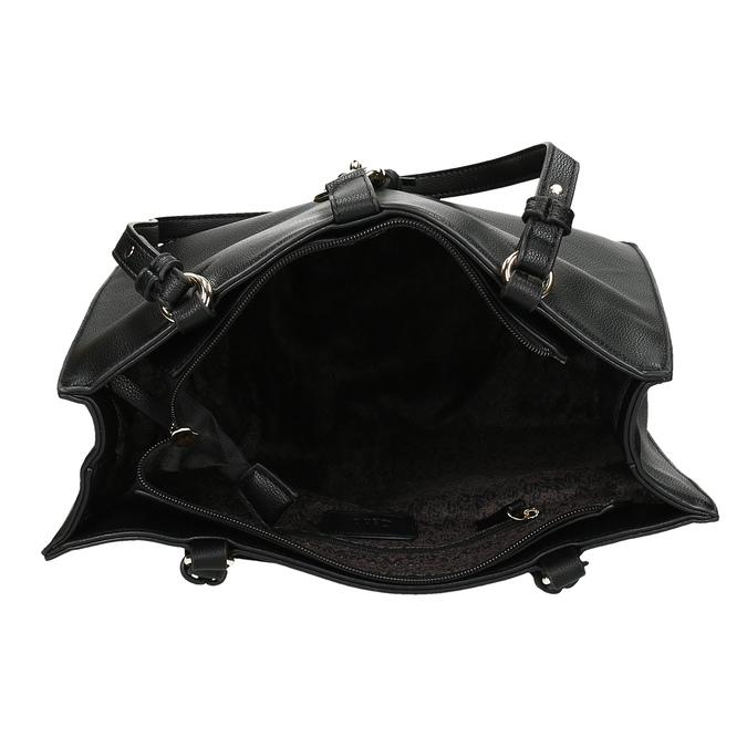 Černá dámská kabelka s kovovou sponou gabor, černá, 961-6129 - 15