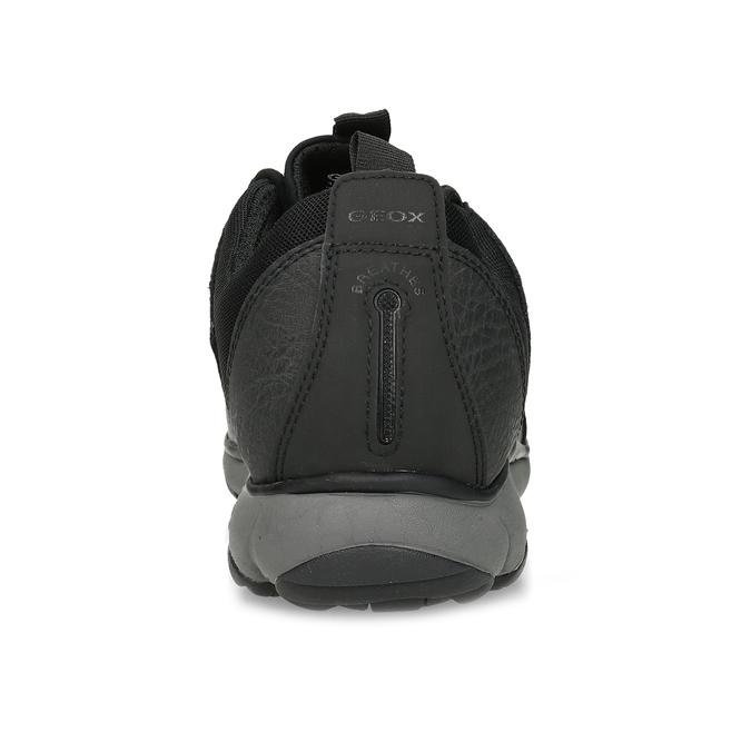Pánské kožené tenisky s prošitím geox, černá, 846-6371 - 15