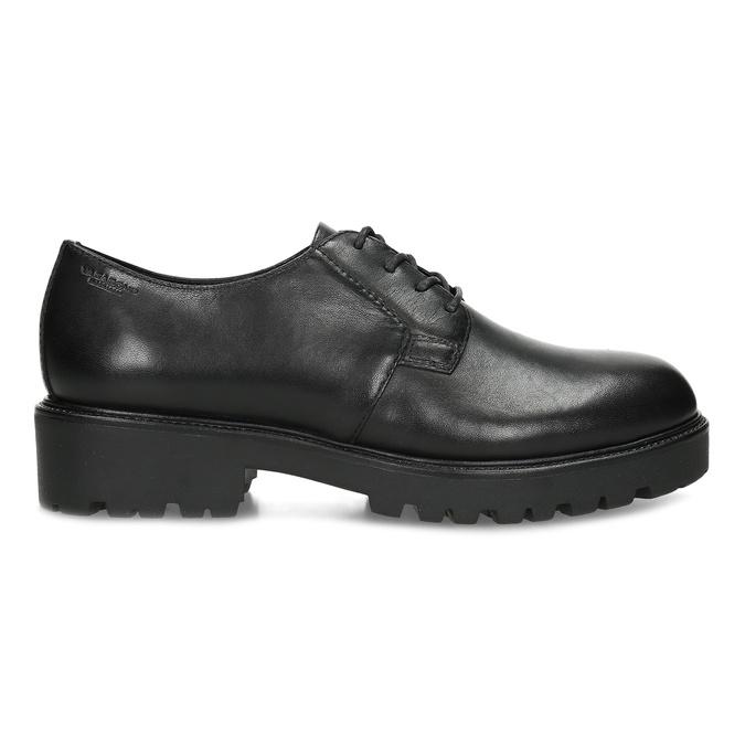 Černé dámské kožené polobotky vagabond, černá, 524-6108 - 19