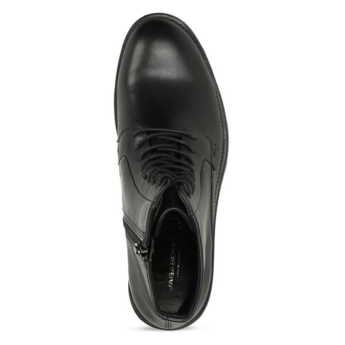 Černá kožená dámská kotníčková obuv vagabond, černá, 524-6106 - 17