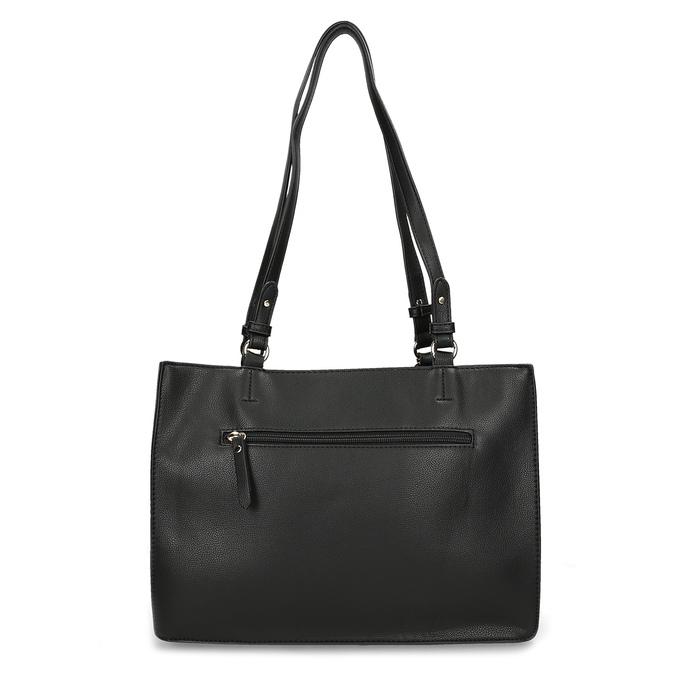 Černá dámská kabelka s kovovou sponou gabor, černá, 961-6129 - 16