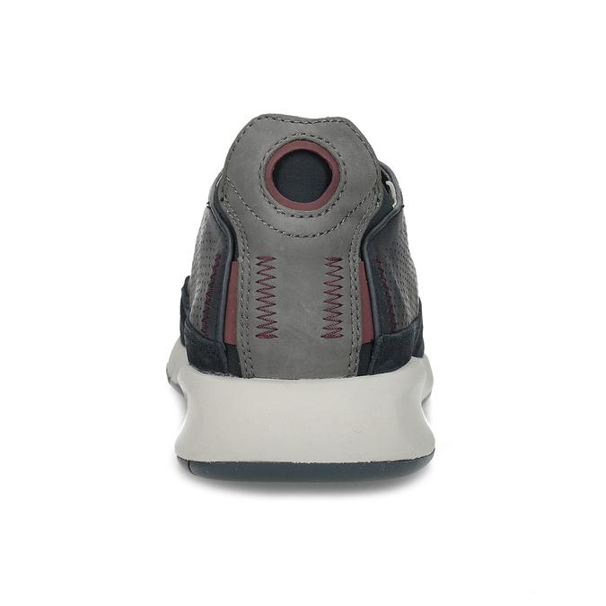 Tmavě modrá pánská kožená obuv geox, modrá, 826-9358 - 15