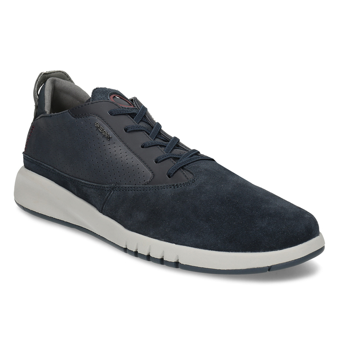 Tmavě modrá pánská kožená obuv geox, modrá, 826-9358 - 13