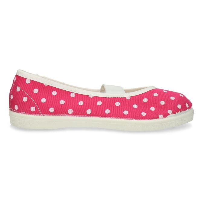 Růžové dětské přezůvky s puntíky bata, růžová, 279-5102 - 19