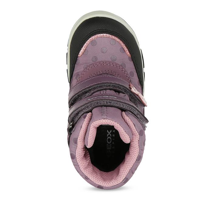 Fialová dětská zimní obuv na suché zipy geox, fialová, 199-5136 - 17