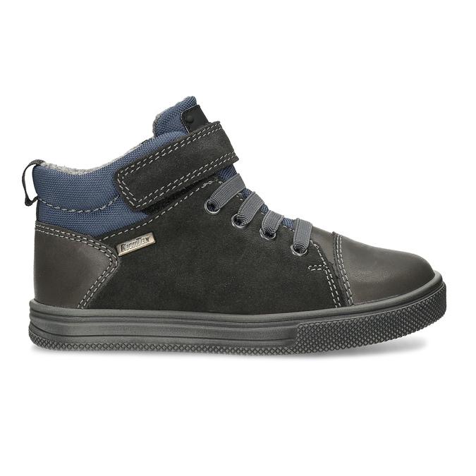 Šedá dětská kotníčková obuv z broušené kůže richter, šedá, 216-2600 - 19