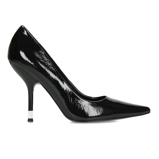 Černé dámské kožené lesklé lodičky calvin-klein, černá, 724-6326 - 19