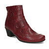 Červené kožené dámské kozačky s knoflíky gabor, červená, 696-5101 - 13