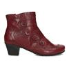 Červené kožené dámské kozačky s knoflíky gabor, červená, 696-5101 - 19