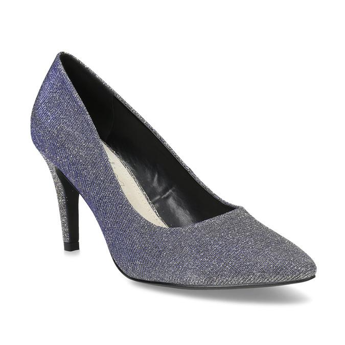 Stříbrné dámské lodičky s modrými odlesky bata, stříbrná, 729-1620 - 13