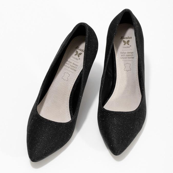 Dámské černé lodičky se stříbrnými odlesky bata, černá, 729-6620 - 16