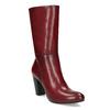 Kožené dámské kozačky vínové bata, červená, 694-5615 - 13