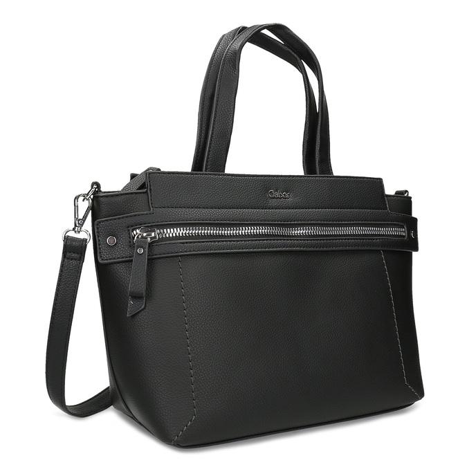 Černá dámská kabelka se zipem gabor, černá, 961-6241 - 13