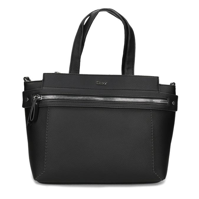 Černá dámská kabelka se zipem gabor, černá, 961-6241 - 26