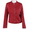 Červená dámská bunda s prošitím bata, červená, 971-5247 - 13