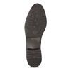 Tmavohnědé kožené kozačky ve vojenském stylu bata, hnědá, 594-4607 - 18