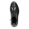 Pánská černá kožená kotníčková obuv bata, černá, 824-6612 - 17