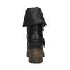 Černé dámské kozačky s přezkami bata, černá, 691-6607 - 15