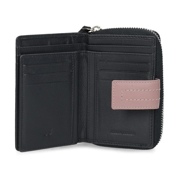 Tmavě modrá dámská kožená peněženka bata, modrá, 944-9623 - 15