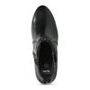 Černé dámské kozačky na stabilním podpatku bata, černá, 694-6612 - 17
