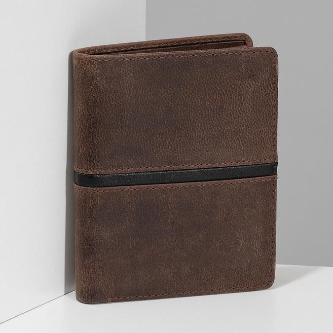 Pánská hnědá peněženka bata, hnědá, 944-4628 - 17