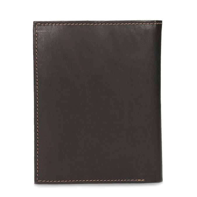 Pánská hnědá kožená peněženka bata, hnědá, 944-4625 - 16