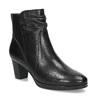 Černé dámské kozačky na stabilním podpatku bata, černá, 694-6612 - 13