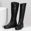 Černé dámské kožené kozačky bata, černá, 594-6689 - 16